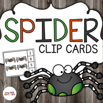 Spider Count & Clip Cards (Halloween)