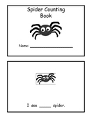 Spider Counting Book- Numbers 1-15
