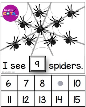Spider Counting Interactive Book Numbers 1-30