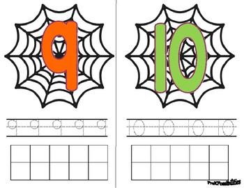 Spider Counting & Number Practice