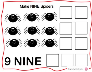 Spider Counting Playdoh Mats (Halloween Play-dough)