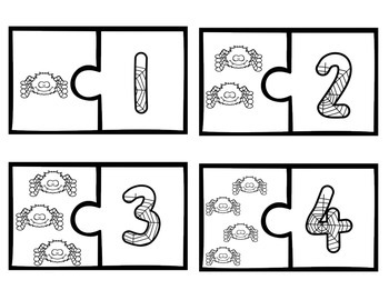Spider Counting Puzzles: Counting 1-10