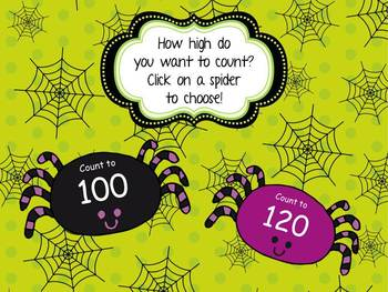 Spider Counting to 100 and 120- more FLASH less CARDS