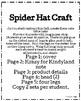Spider Craft: Hat (Halloween, Trick-or-Treat, Autumn, Fall)