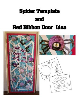 Spider Craft Template- Red Ribbon Week or  Halloween