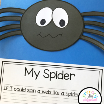 Spider Craft With Writing Prompts/Pages
