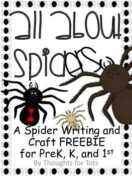 Spider Craft and Writing Practice FREEBIE, Black Widow, Ha