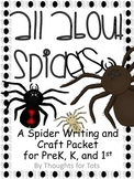 Spider Craft and Writing Practice, Halloween, PreK, Kindergarten, 1st Grade