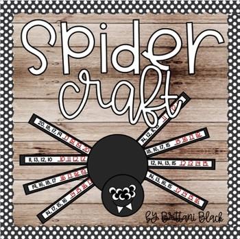 Spider Craft~ number ordering activity