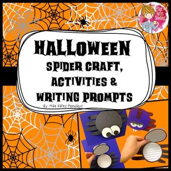 Halloween Crafts, Activities & Writing Prompts - Spider