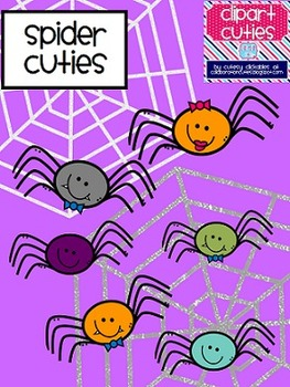 Spider Cuties Clipart {Halloween}