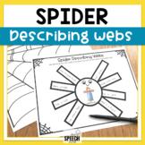 Spider Describing Vocabulary Worksheets