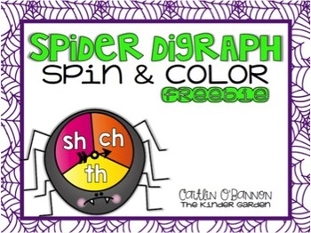 Spider Digraph Spin & Color {Freebie}