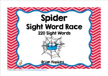 Spider Sight Word Race