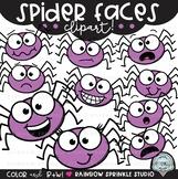 Spider Faces {spider clipart}