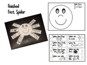 Spider Facts Activity and Color By Number Spider / Kindergarten