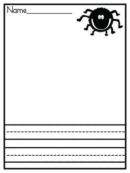 Spider Facts Emergent Reader Sight Word Booklet - Kindergarten