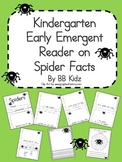 Spider Facts Emergent Reader Sight Word Booklet - Kindergarten
