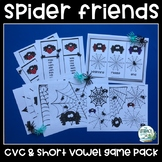 CVC and Short Vowel Game Pack - Spider Theme