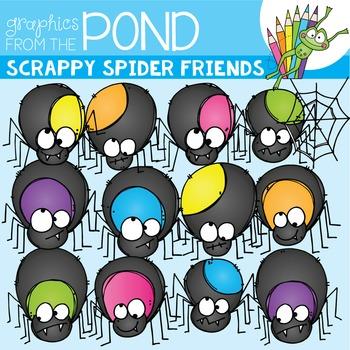 Spider Friends - Scrappy Clipart
