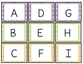 Spider Game- Letter {upper & lower case}& Number {1-30} Recognition