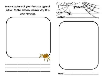 Spider Guided Reading Independent Research Booklet