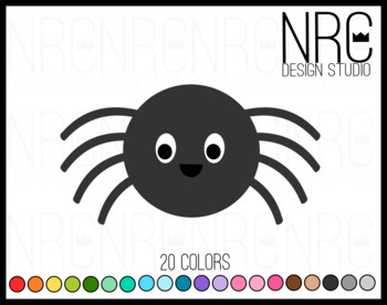 Spider clipart commercial use