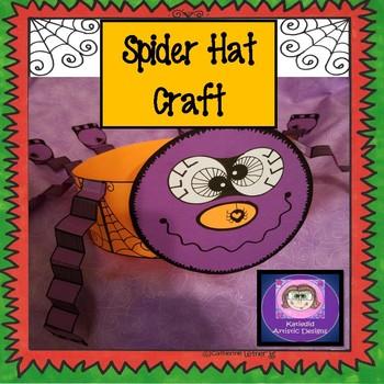 Spider Hat, Halloween Crafts, October Crafts