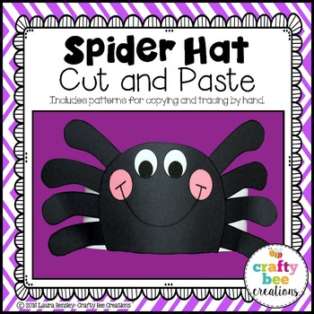 Spider Hat Cut and Paste