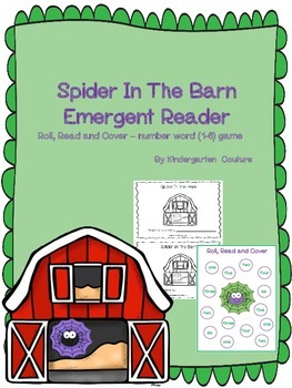 Spider In The Barn Emergent Reader and Roll and Cover Number Words