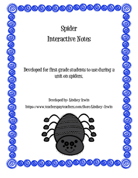 Spider Interactive Notes
