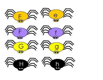 Spider Letter Match A-Z