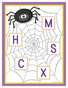 Spiders ABC Match:  Alphabet Activitiy for Preschool and Kindergarten