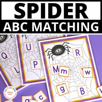 Spiders ABC Match:  Alphabet Activitiy for Preschool and Kindergarten