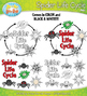 Spider Life Cycle Clip Art Set — Comes In Color and Black & White!