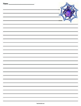 Spider Lined Paper