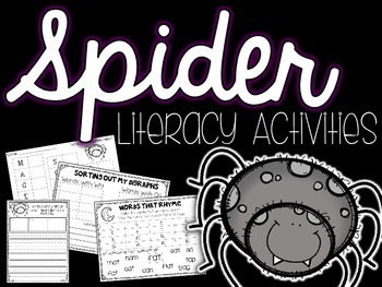 Spider Literacy Activities *FREEBIE*