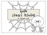 Spider Literacy Center Activities - Spider Sight Word Game & More