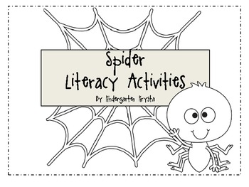 Spider Literacy Center Activities - Spider Sight Word Game & More