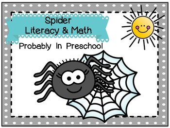 Spider Literacy and Math Activities