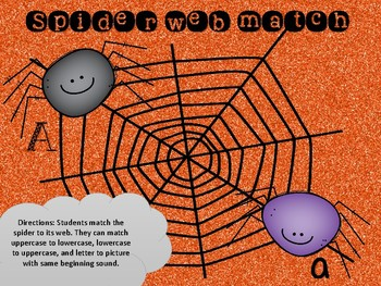 Spider Literacy centers