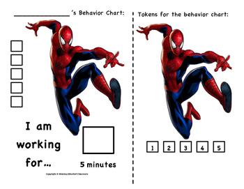 Spider-Man Behavior Chart!