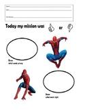 Spider Man Think Sheet