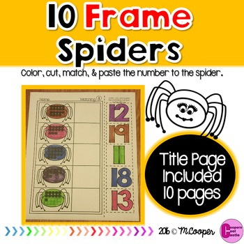 Spider Match to 20 (Ten Frames)