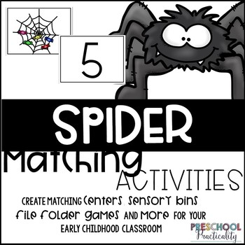 Spider Matching Activities for Toddlers, Preschool, and PreK