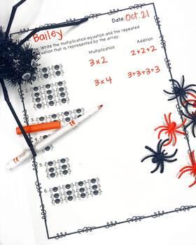 Multiplication with Manipulatives- Spider Math