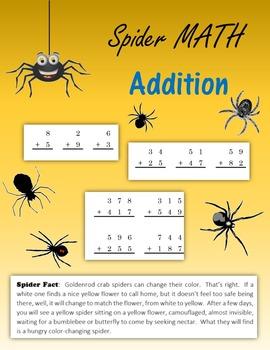 Spider Math:  Addition