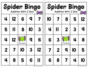 Spider Math - Addition & Subtraction Within 12 - Games & Worksheets
