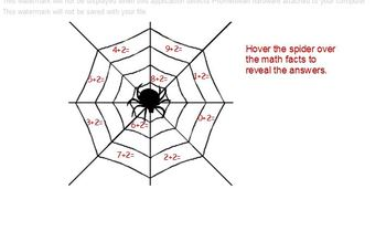 Spider Math Addition facts flipchart for Activboard