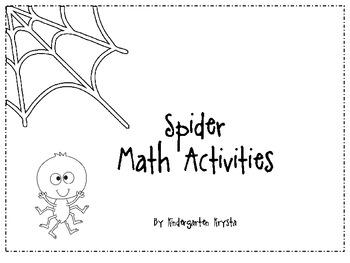 Spider Math Center Activities